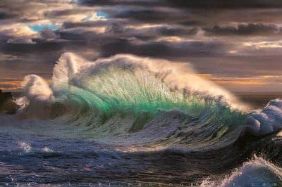 Giant oceanic wave at Varigotti beach