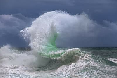 Giant wave during a sea storm
