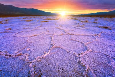 Death valley salt patterns