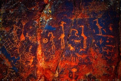 V-bar-V ancient petroglyphs near Sedona, Arizona
