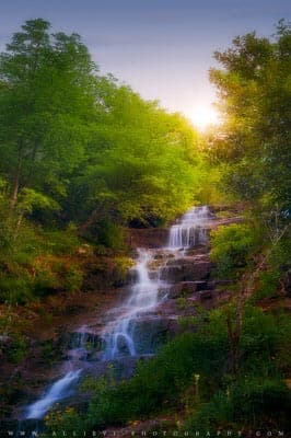 Spring waterfall