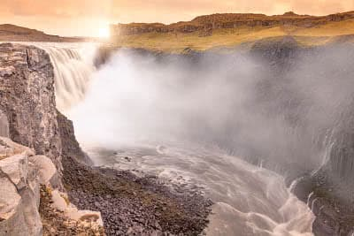The majestic Dettifoss waterfall in Iceland