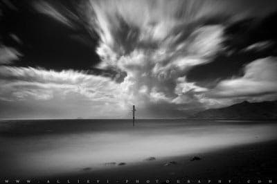 Seascape infrared photo