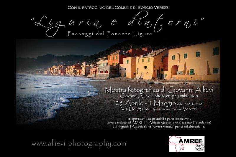 Liguria e dintorni photographic exhibition with Giovanni Allievi in Verezzi