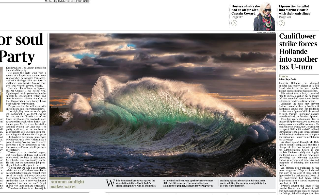 """The Times"" features a Giovanni Allievi photography"