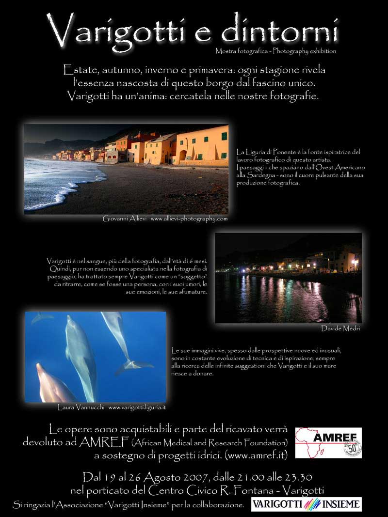 Varigotti photographic exhibition with Giovanni Allievi in Varigotti