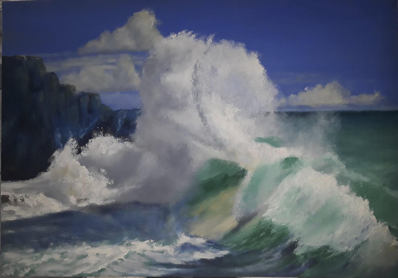 mouth painting of a wave