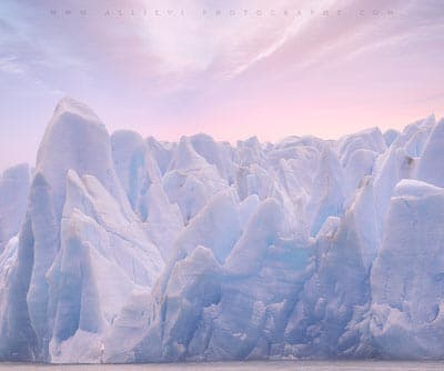 Icebergs at Lago Grey glacier, Patagonia, Chile