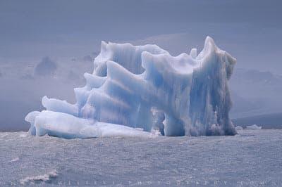 Iceberg at Lago Grey glacier, Patagonia, Chile