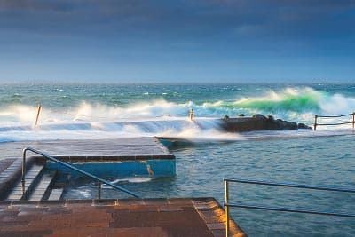 The Bajamar sea pool during a sea storm – Tenerife, Canary Islands